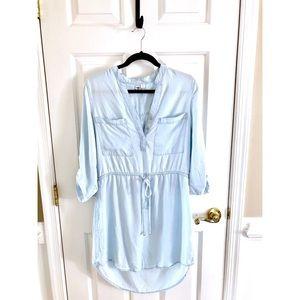 Francesca's Alya High Low Denim Dress